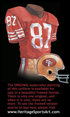 San Francisco 49ers 1988 uniform