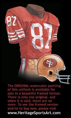 San Francisco 49ers 1988 uniform