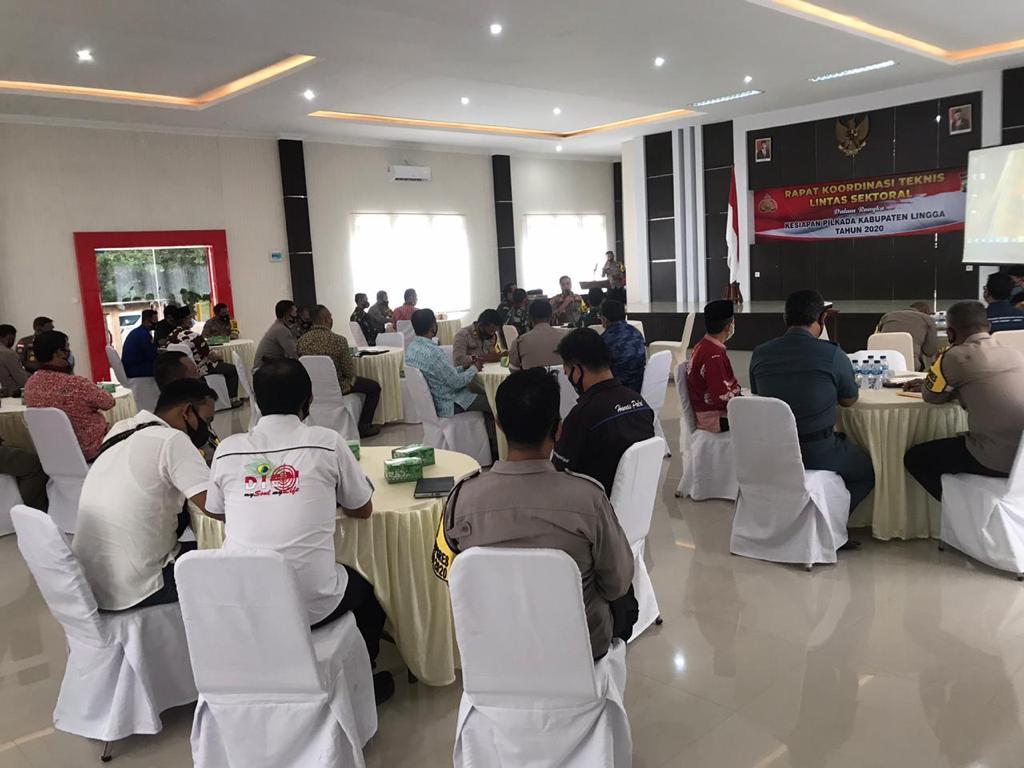 Jelang Pilkada Serentak Tahun 2020, Polres Lingga Gelar Rapat Koordinasi Teknis Lintas Sektoral