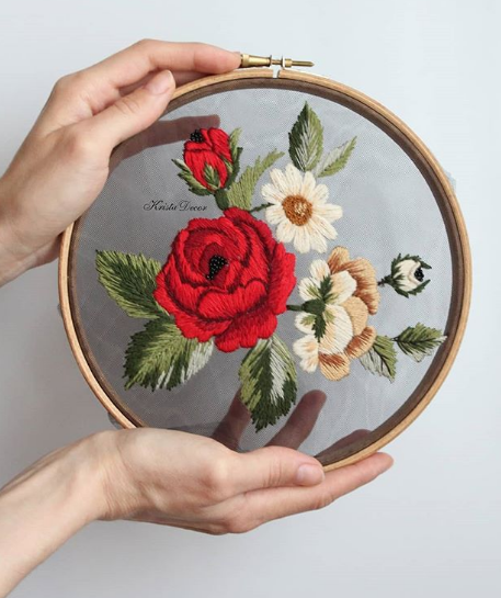 Insta love: Tulle Embroidery