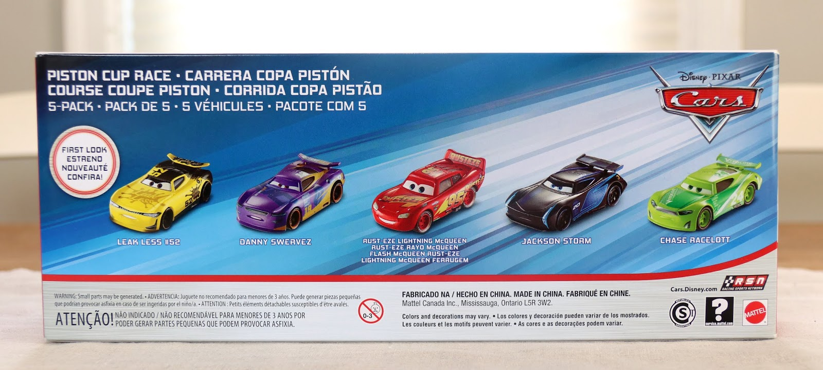 pixar cars mattel piston cup 5-pack 2019