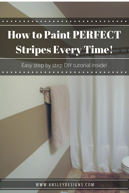 How to paint PERFECT stripes on textured walls! Click to read the tutorial or pin for later!