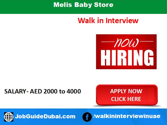 Melis Baby Store career for Sales Lady jobs in Dubai UAE