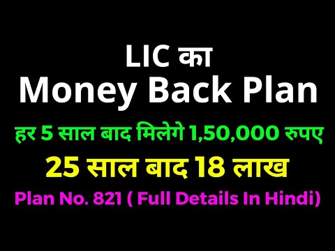 LIC Offers 20 Year Old - New Money Back Plan