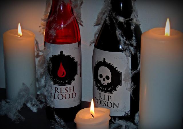 butelki z trucizną halloween