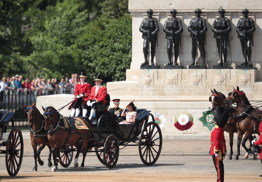 Trooping The Colour 2018 Meghan Markle e Principe Harry