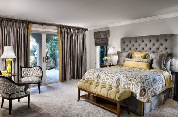 Dormitorio gris plata