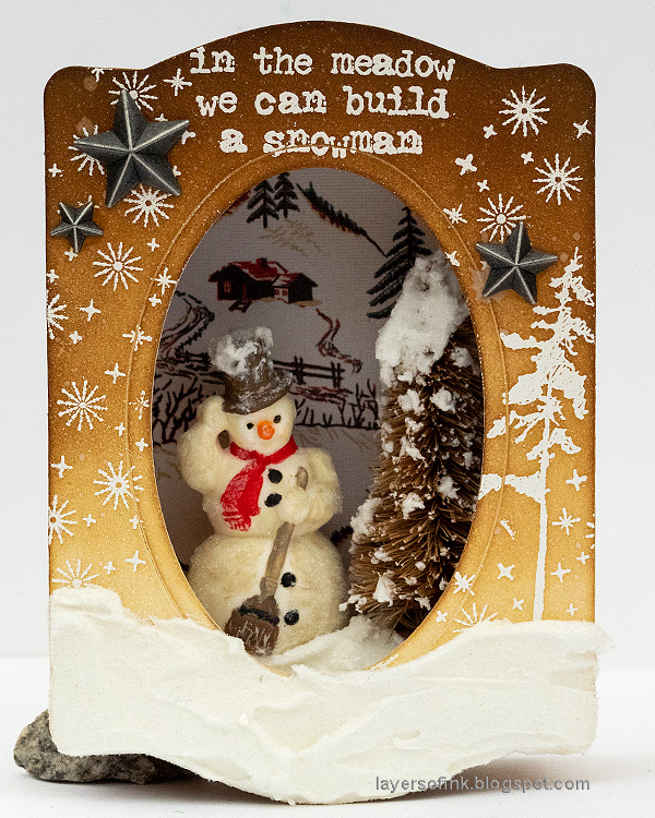Winter Wonderland Shadow Box Tutorial
