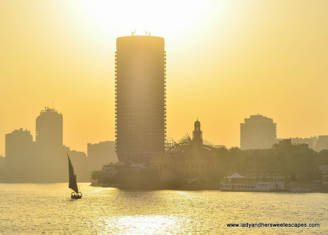 Sunset in Nile River