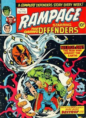 Rampage #13, Defenders vs Nebulon