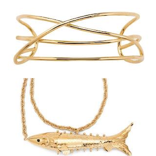 cadena con pescadito dorada de Jennifer Fisher