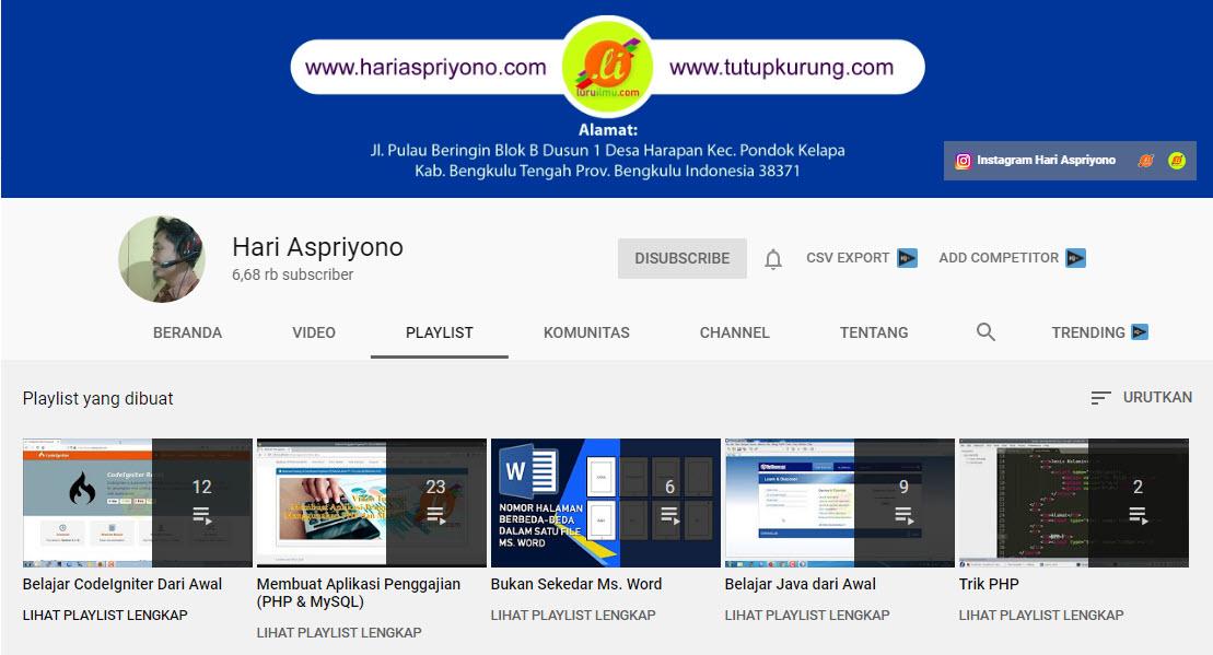 Cara Mudah Membuat Konten Video Pembelajaran Di Youtube Persiapan Hari Aspriyono