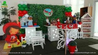 Decoração mesa de aiversário Chapeuzinho Vermelho - Festa infantil - Barra - RJ