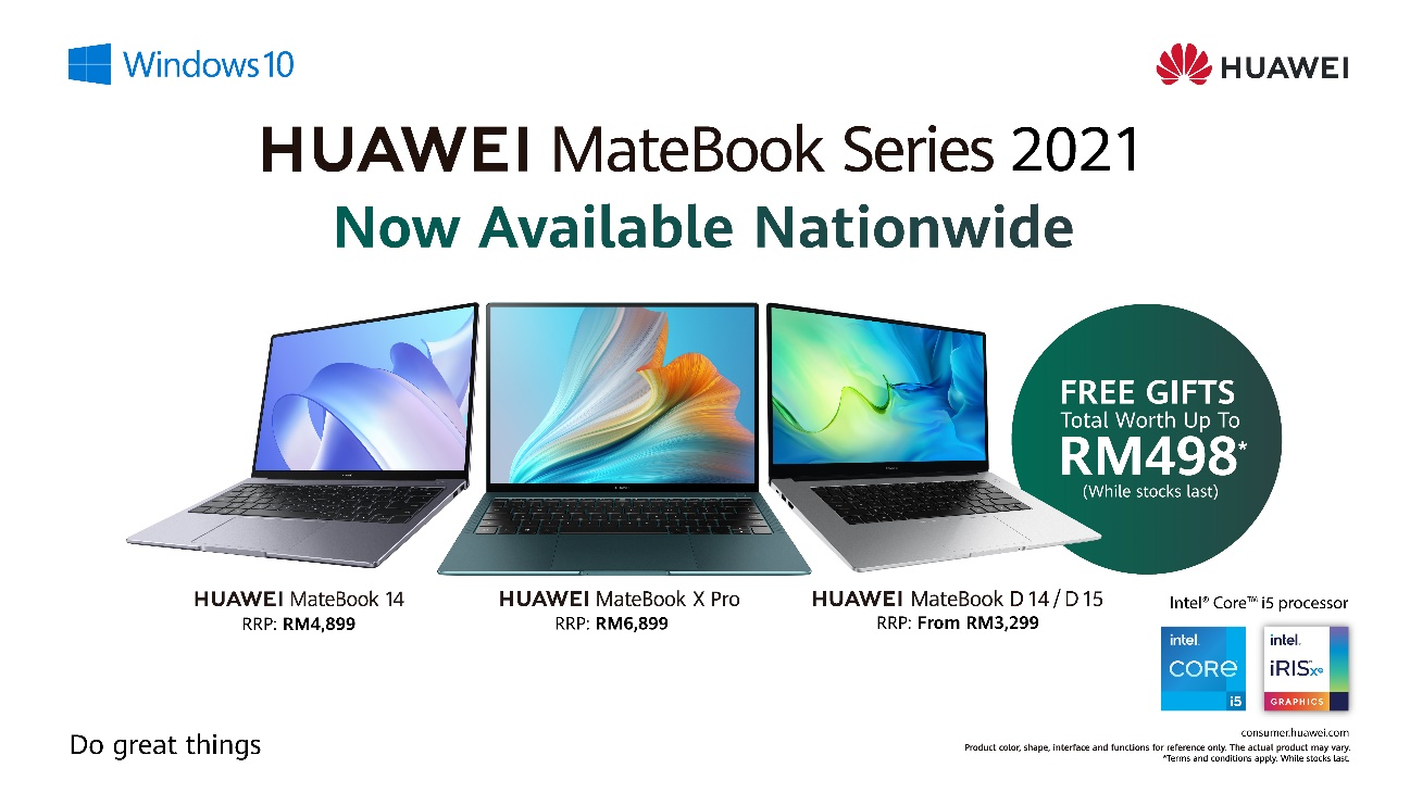Huawei MateBook 2021 Series available starting 24th April 2021( Intel Series )