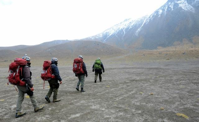 Montañistas, escalador, equipo