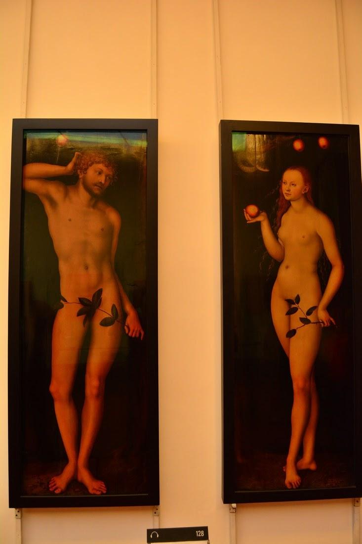 Cranach l'Ancien - Adam et Eve - 1528