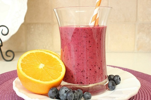 Method of action of orange and cranberry smoothies