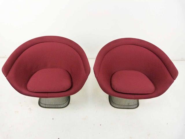 Warren Platner for Knoll Bronze Wide Lounge Chairs 2