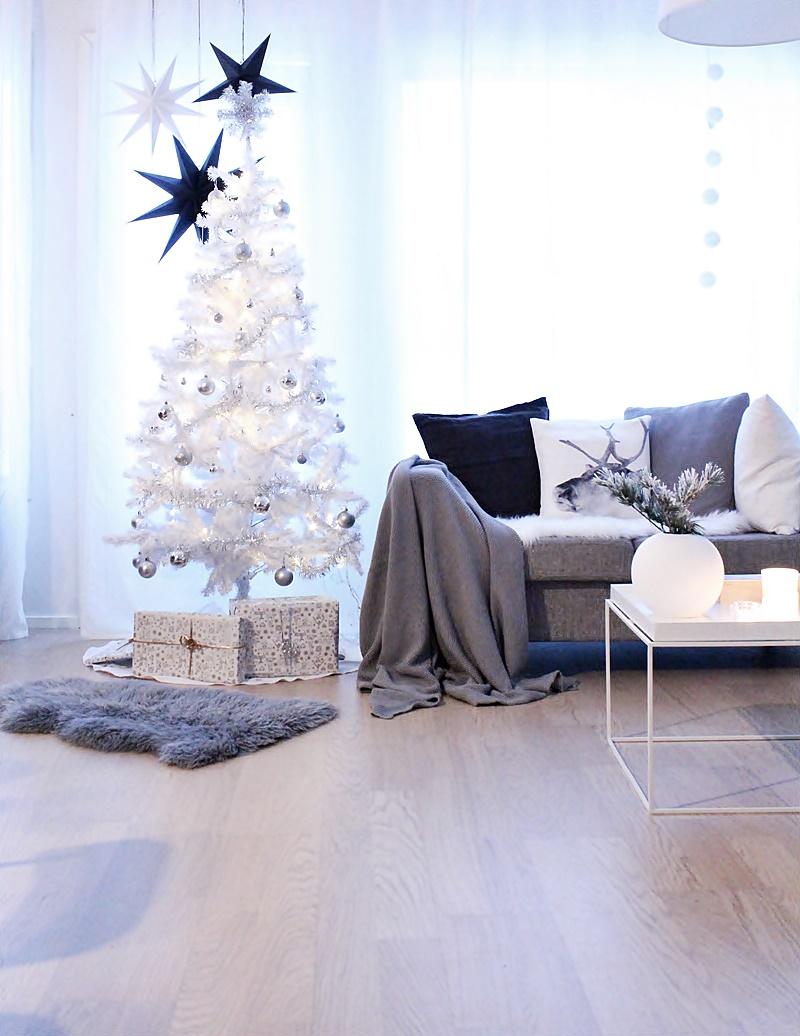 valkoinen joulusisustus
