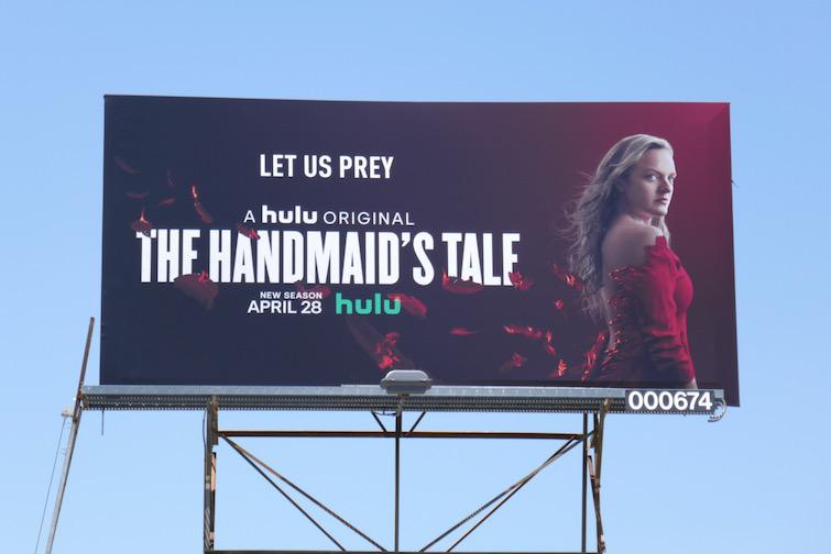 Handmaids Tale season 4 Let us prey billboard