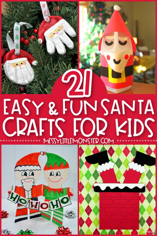Santa craft ideas for kids