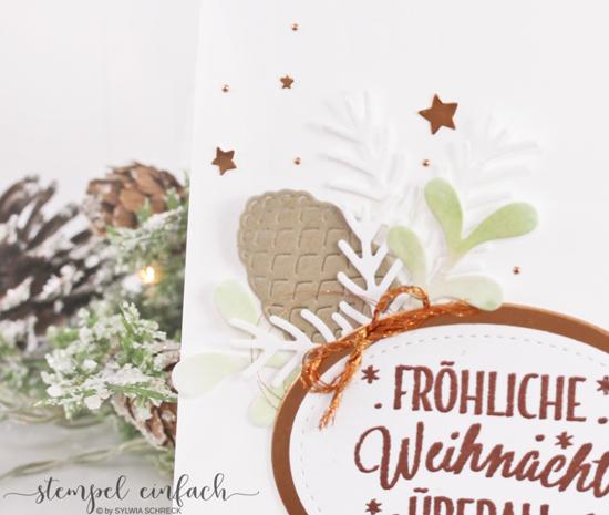 stempel einfach drauf und dran Weihnachtskarten