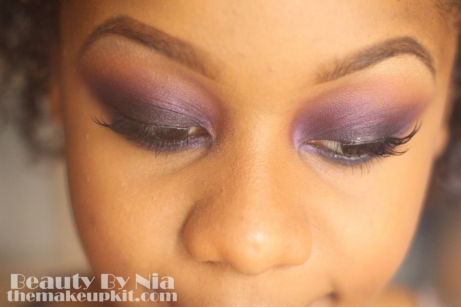 Smoked out purple eye make up look 3