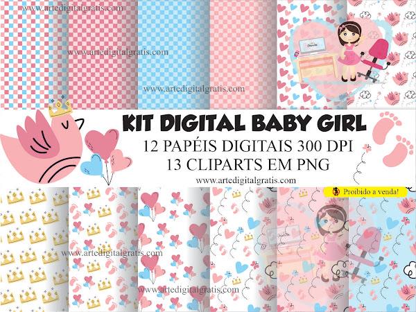 KIT DIGITAL BABY GIRL GRÁTIS