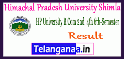 Himachal Pradesh University Shimla 2nd 4th 6th UG Semester Result