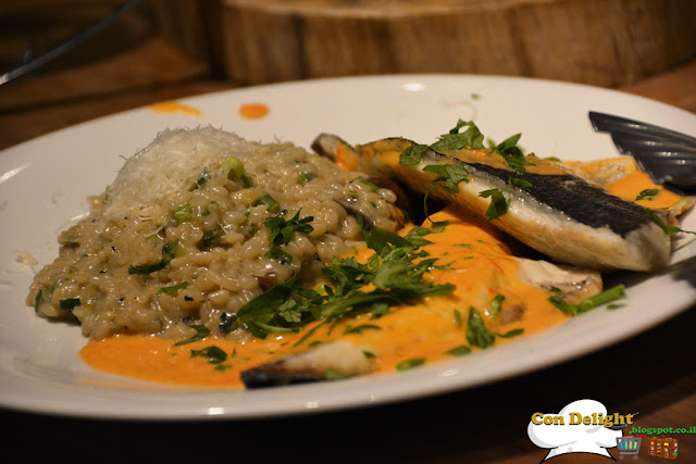 bream fish and risotto
