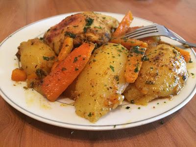 Poulet au légumes au four
