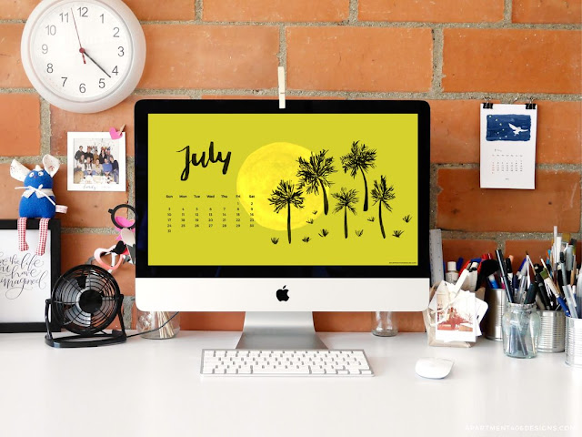 Apartment 406 Designs - July 2016 calendar wallpaper
