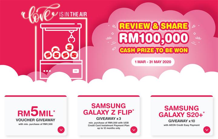 Beli barang Senheng dan menang hadiah wang tunai RM100000