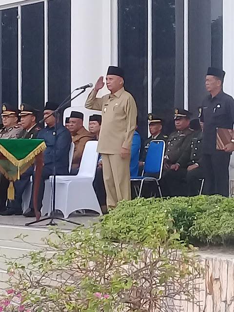 Wakil Bupati Asahan Surya memimpin upacara peringatan Hari Kesaktian Pancasila.