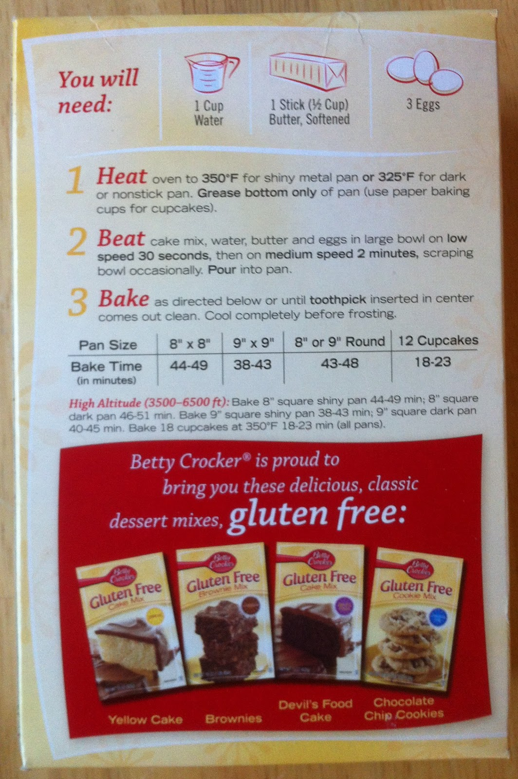Betty Crocker Gluten Free Cake Mix And Easy Cupcake