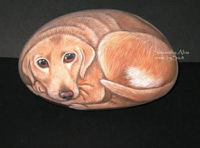Come dipingere sui sassi i cani