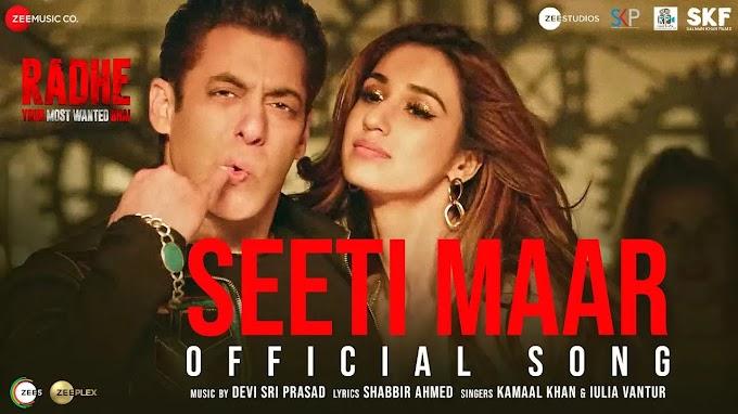 Seeti Maar lyrics Radhe in Hindi and English