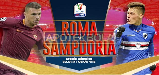 Prediksi Pertandingan AS Roma vs Sampdoria 20 Januari 2017