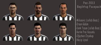 Faces: Alexander Milosevic, Cenk Tosun, Ersan Gulum, Kerim Frei Koyunlu, Necip Uysal, Oguzhan Ozyakup, pes 2013