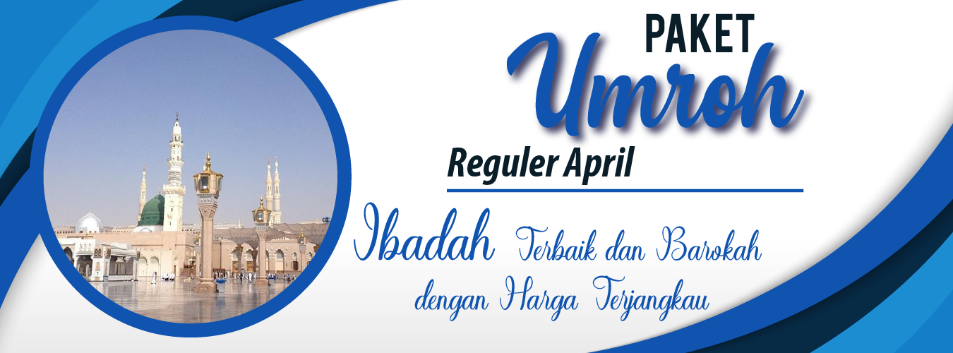 Banner Umroh Reguler April MAP Tour
