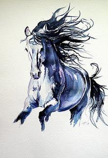 cuadros-de-corceles-representaciones-en-acuarelas caballos-pinturas-acuarelas
