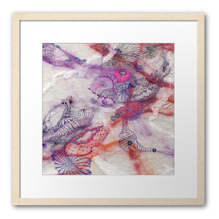 Framed Fine Art Print Insular Divergence by Mimi Pinto