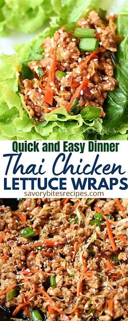 best and easy dinner thai chicken lettuce wraps