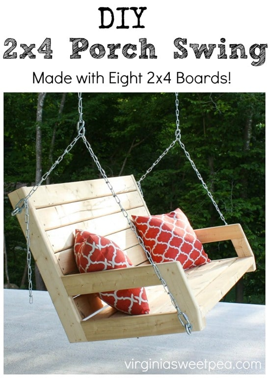 simple porch swing using 2x4's