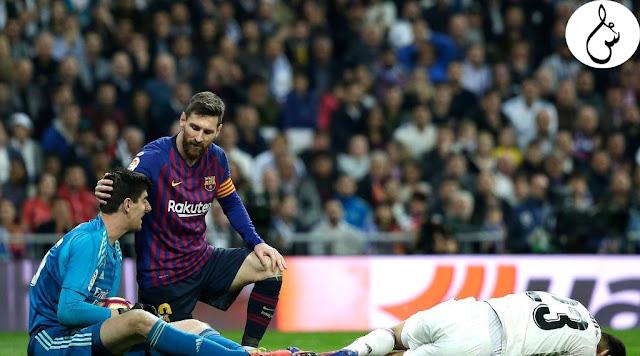 """برشلونة يرد على """"كورتوا"""" الذي قال ميسي مثل أي لاعب آخر في الليغا"""