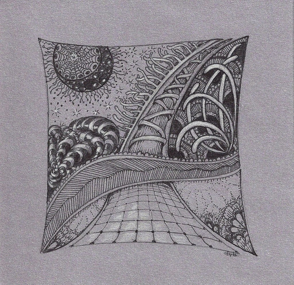 11-Up-in-the-Sky-Deborah-Elaborate-Zentangle-Drawings-www-designstack-co