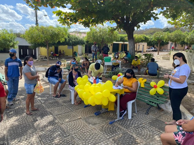 UBS de Jucá-Cariré realiza o  'Dia D'  da Campanha Julho Amarelo na praça pública daquele distrito