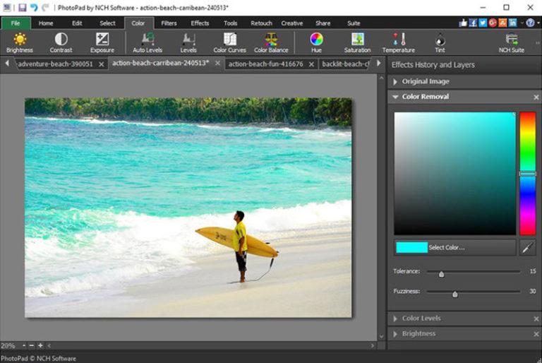 NCH PhotoPad Image Editor Pro v6.55 - Chỉnh sửa hình ảnh cho máy tính