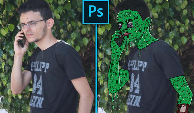 تصميم تأثير الذوبان على صورتك - grime art photoshop