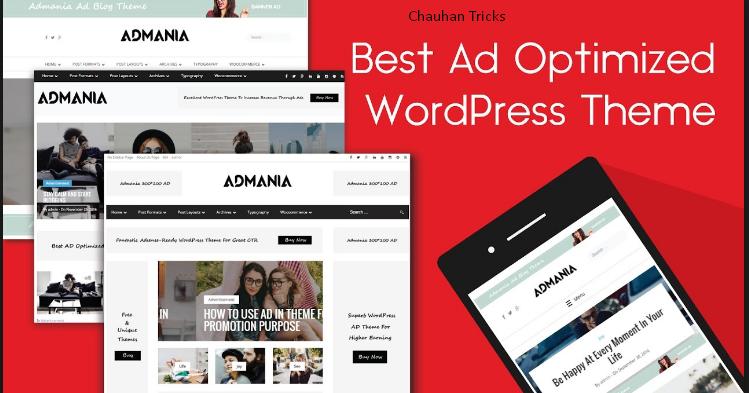 Admania WordPress Theme Free Download - Chauhan Tricks